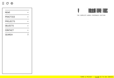 Site internet de Herzog & de Meuron France