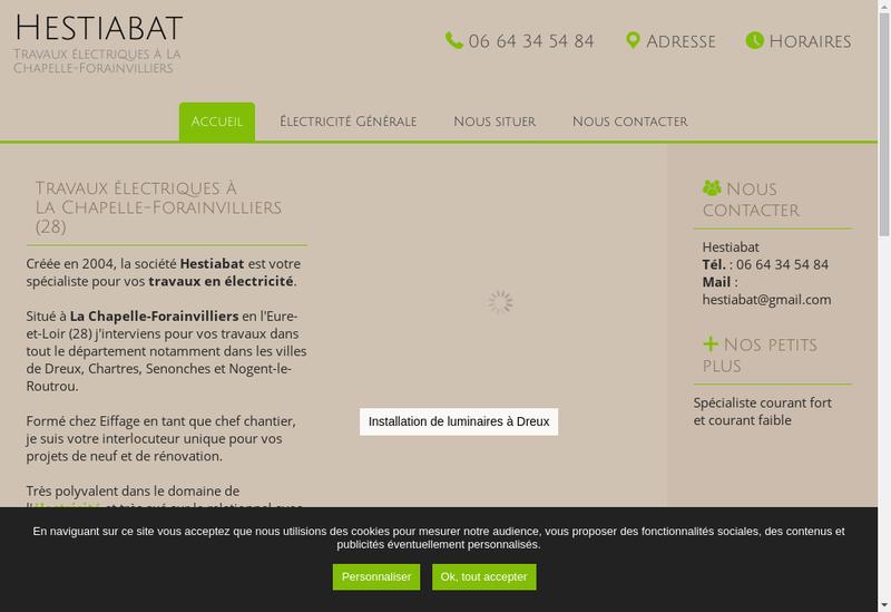 Capture d'écran du site de Hestiabat