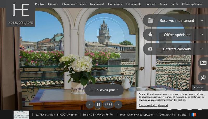 Site internet de Hotel d'Europe-la Vieille Fontaine