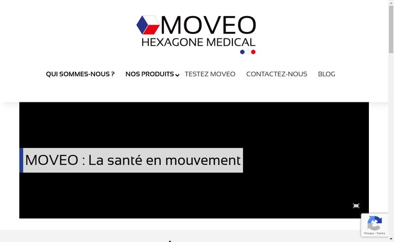 Capture d'écran du site de Hexagone Medical