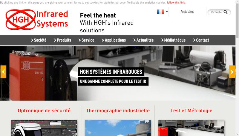 Capture d'écran du site de Hgh Infrared Systems