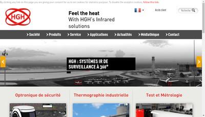 Site internet de Hgh Infrared Systems