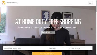 Site internet de Hi Duty Free