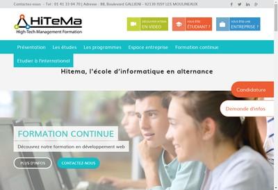 Site internet de Hitema Formation
