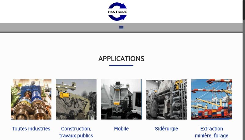 Capture d'écran du site de Hks France