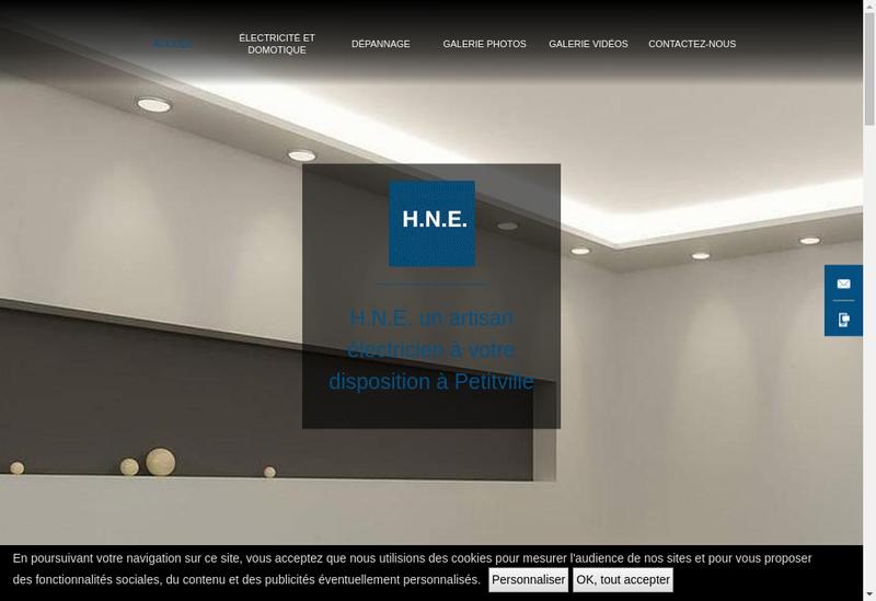 Capture d'écran du site de HNE
