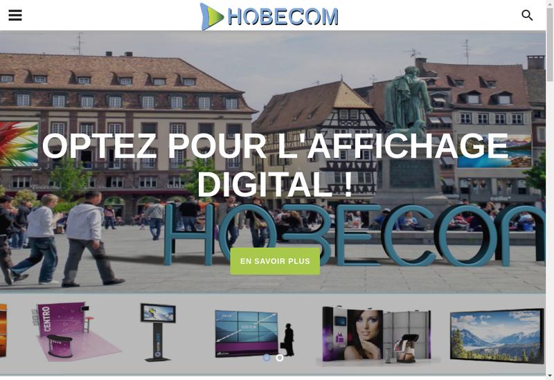 Capture d'écran du site de Hobecom