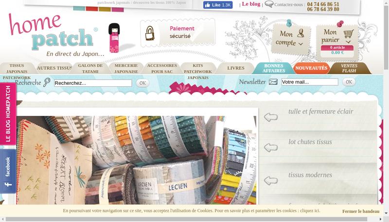 Capture d'écran du site de Alpimex