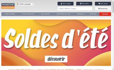 Site internet de Digital-Solutions Compiegne Homecinesolutions Screen Excellence