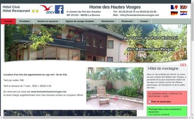 Site internet de Home des Hautes Vosges