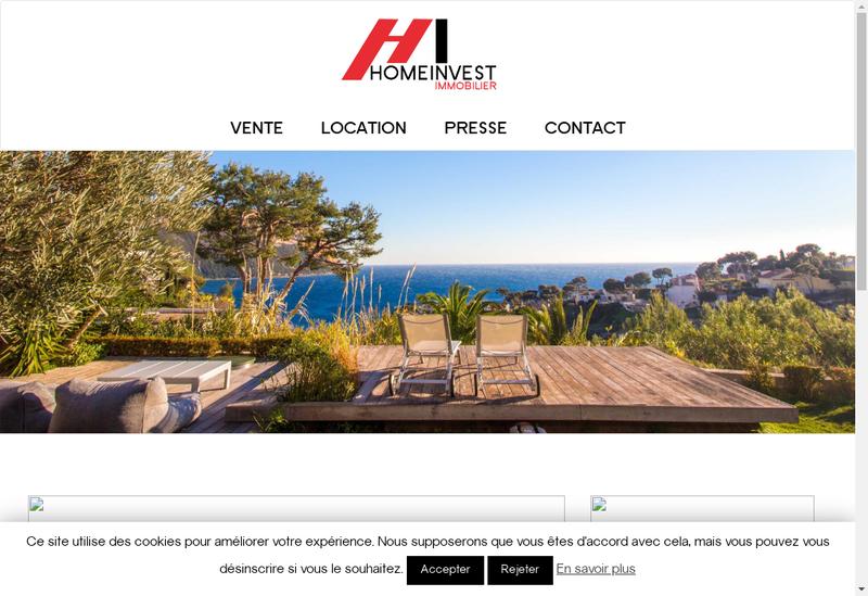 Capture d'écran du site de Home Invest Finance