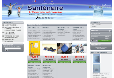 Capture d'écran du site de Homnia