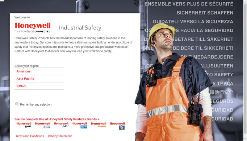 Capture d'écran du site de Honeywell Fall Protection France