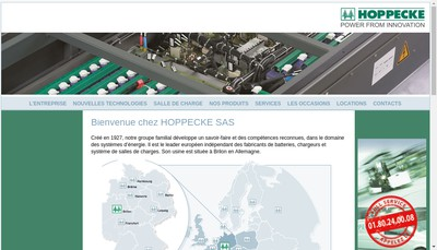 Site internet de Hoppecke France