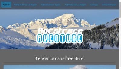 Site internet de Hors Trace Aventure
