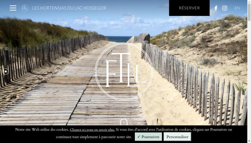 Site internet de Hotel de Charme les Hortensias du Lac