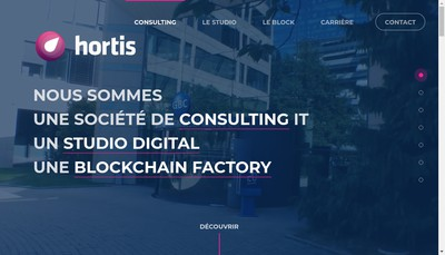 Site internet de Hortis France
