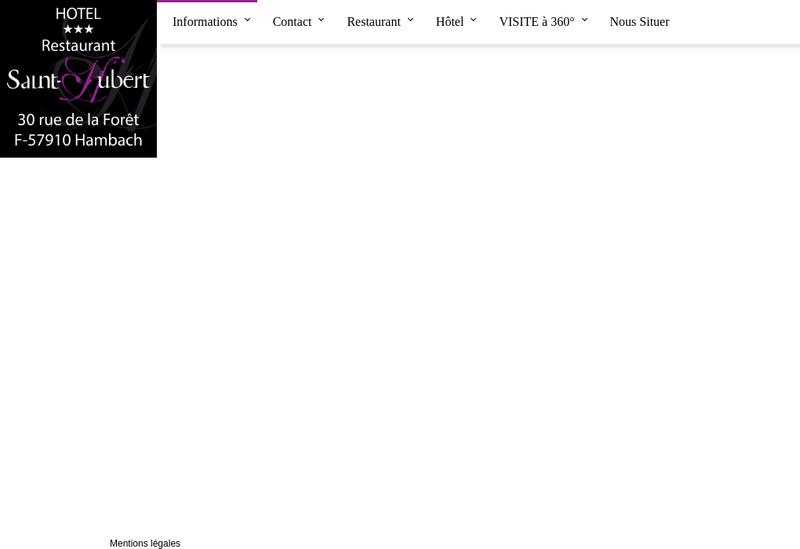 Capture d'écran du site de Hotel Restaurant le Saint Hubert