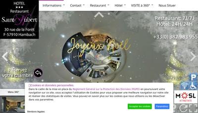 Site internet de Hotel Restaurant le Saint Hubert
