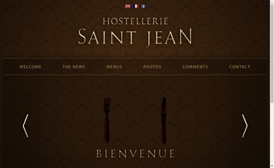 Site internet de Hostellerie Saint Jean