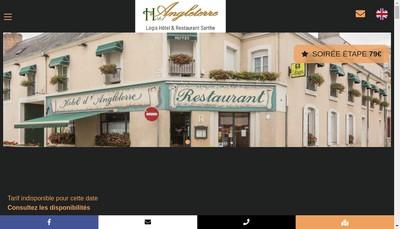 Site internet de Hotel Restaurant d'Angleterre