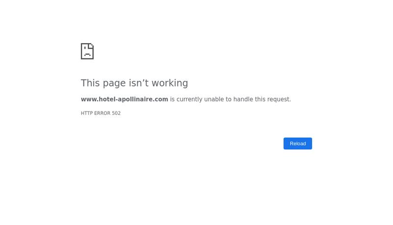 Capture d'écran du site de Hotel Apollinaire