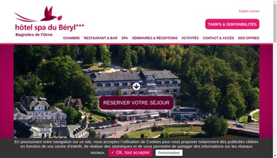 Site internet de Hotel du Beryl