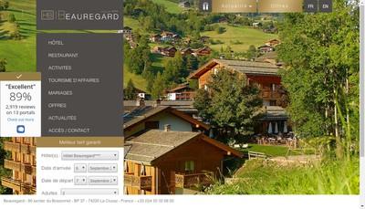 Site internet de Hotel Beauregard