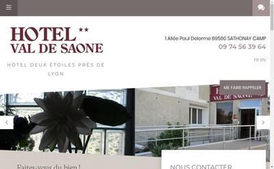 Site internet de Hotel du Val de Saone