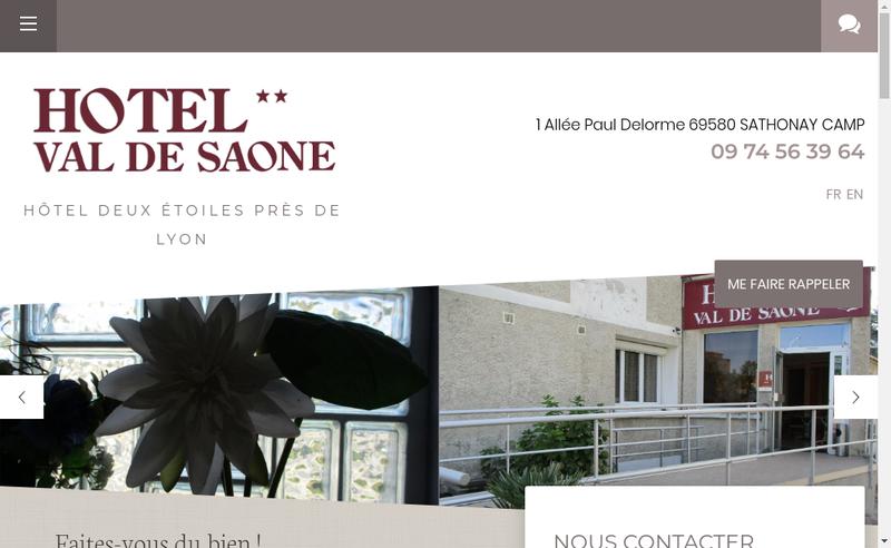Capture d'écran du site de Hotel du Val de Saone