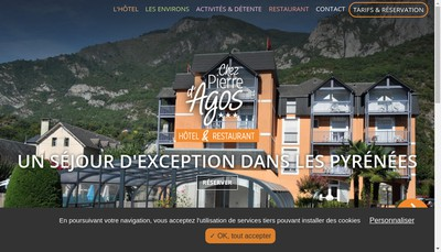 Site internet de Hotel Chez Pierre d'Agos