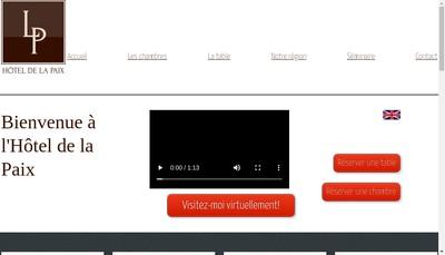 Site internet de Hotel de la Paix