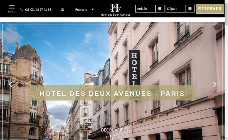 Capture d'écran du site de Hotel des Deux Avenues