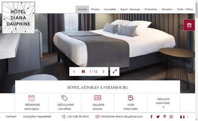Site internet de Hotel Diana-Dauphine
