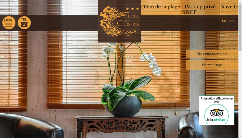 Capture d'écran du site de La Closerie