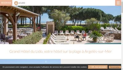 Site internet de Hotel du Lido