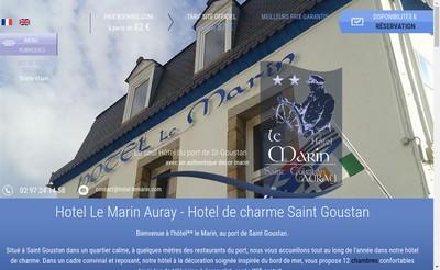 Site internet de Hotel le Marin