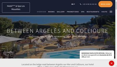 Site internet de Hotel les Mouettes