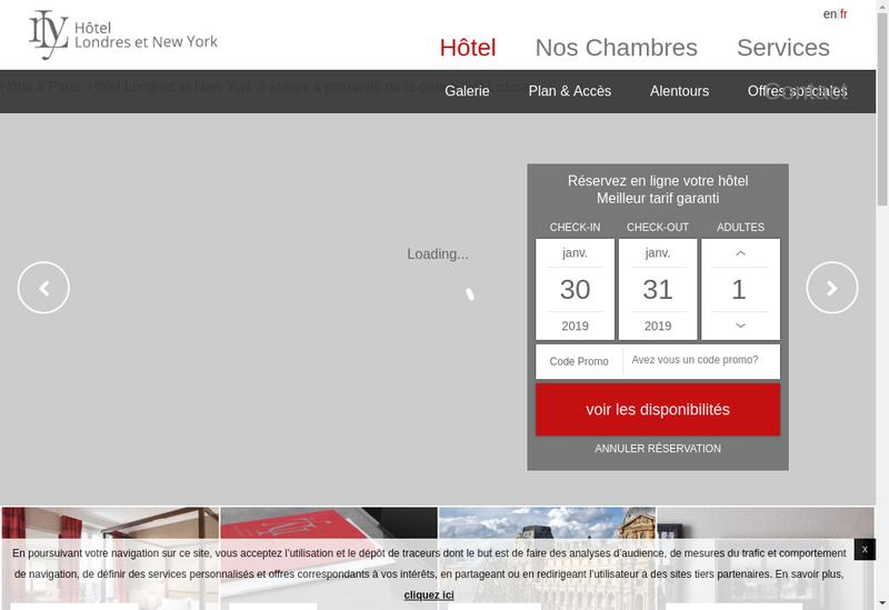 Capture d'écran du site de Londres Ny