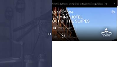 Capture d'écran du site de Hotel la Marmotte