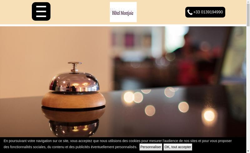 Capture d'écran du site de Hotel Montjoie