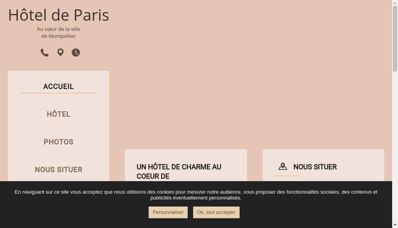 Capture d'écran du site de Hotel de Paris