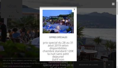 Site internet de Societe des Bains de Mer de Pineto