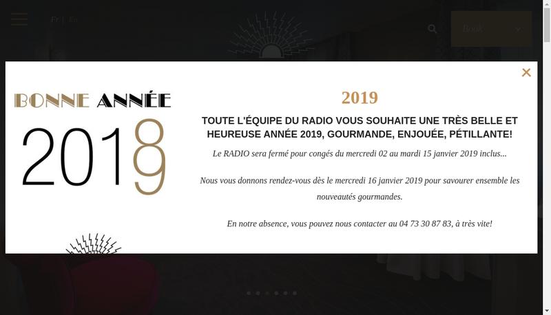 Capture d'écran du site de Le Radio