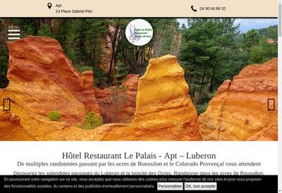 Site internet de Hotel le Palais- la Cusine au Feu de Bois