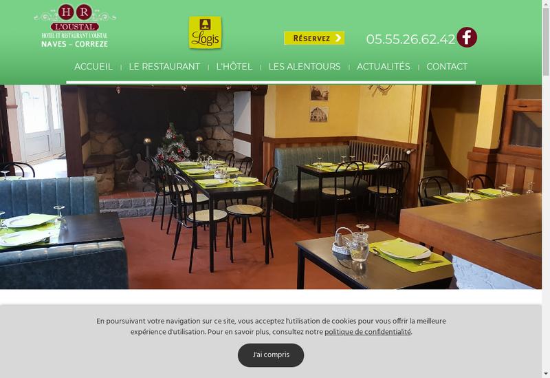 Capture d'écran du site de L'Oustal