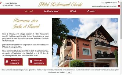Site internet de Hotel Restaurant Oberle