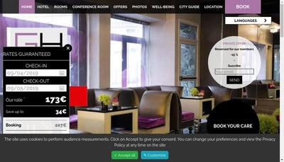 Site internet de Grand Hotel Saint Michel