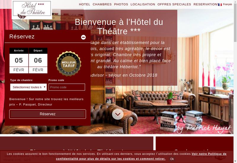 Capture d'écran du site de Societe Hotel du Theatre