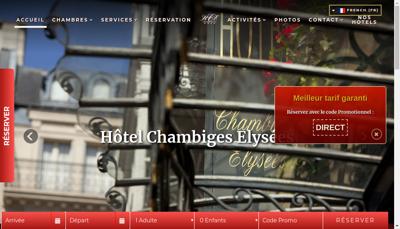 Capture d'écran du site de Chambiges Elysees